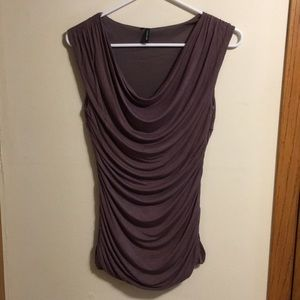 Maurices dusty purple ruched sleeveless top
